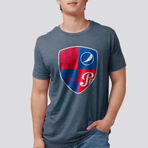 Pepsi Varsity Badge 7 Mens Tri-blend T-Shirt