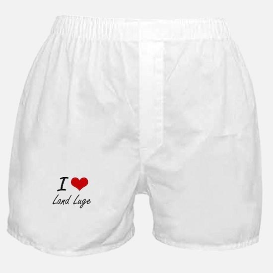 I Love Land Luge artistic Design Boxer Shorts