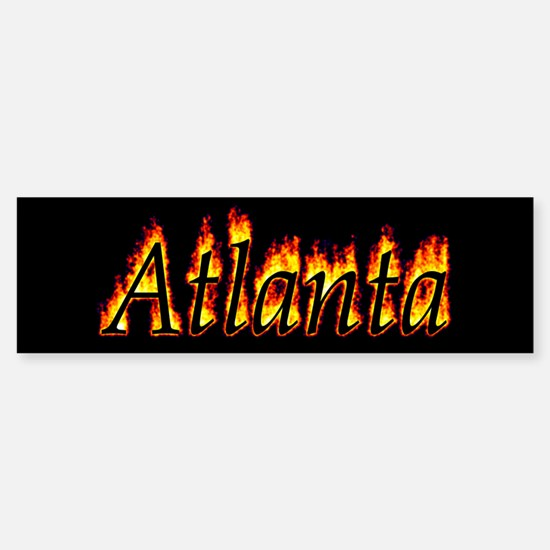 Atlanta Flame Bumper Bumper Bumper Sticker