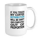Funny Coffee Quote-Large Mug Mugs