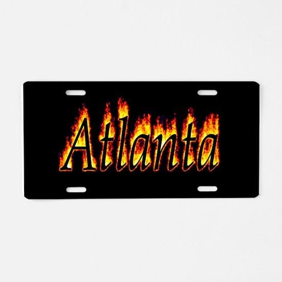 Atlanta Flame Aluminum License Plate