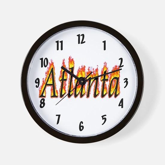 Atlanta Flame Wall Clock