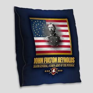 Reynolds (c2) Burlap Throw Pillow