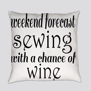 Sewing and Wine Everyday Pillow