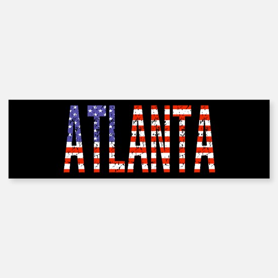 Patriotic Atlanta Bumper Bumper Bumper Sticker