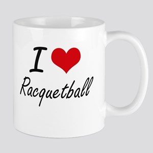 I Love Racquetball artistic Design Mugs