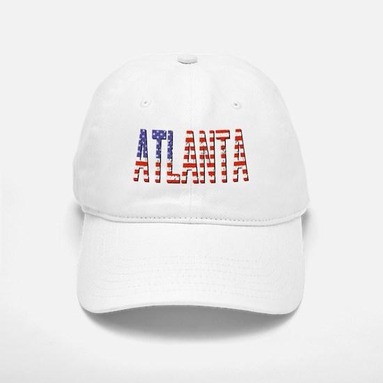 Patriotic Atlanta Baseball Baseball Baseball Cap
