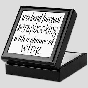 Scrapbooking and Wine Keepsake Box