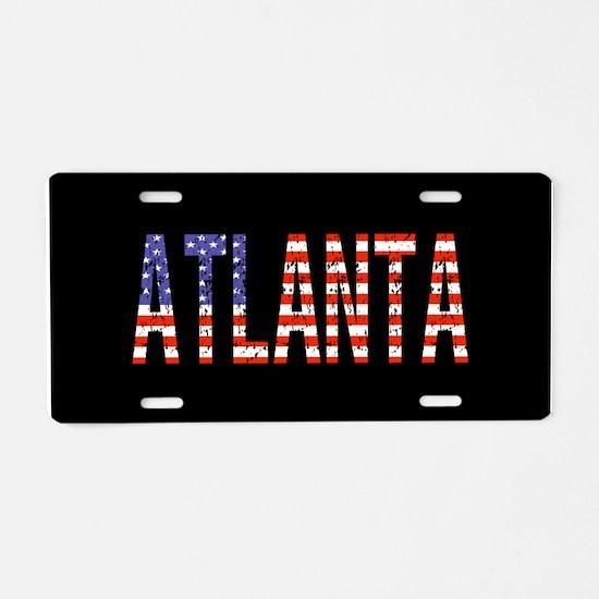 Patriotic Atlanta Aluminum License Plate