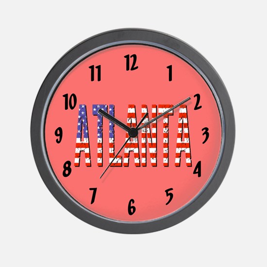 Patriotic Atlanta Wall Clock