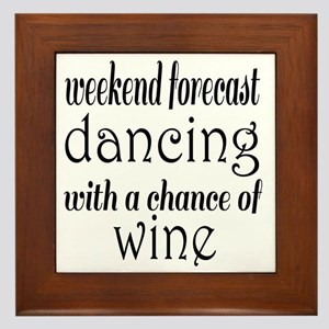 Dancing and Wine Framed Tile