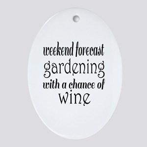 Gardening and Wine Oval Ornament
