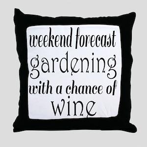 Gardening and Wine Throw Pillow