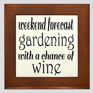 Gardening and Wine Framed Tile