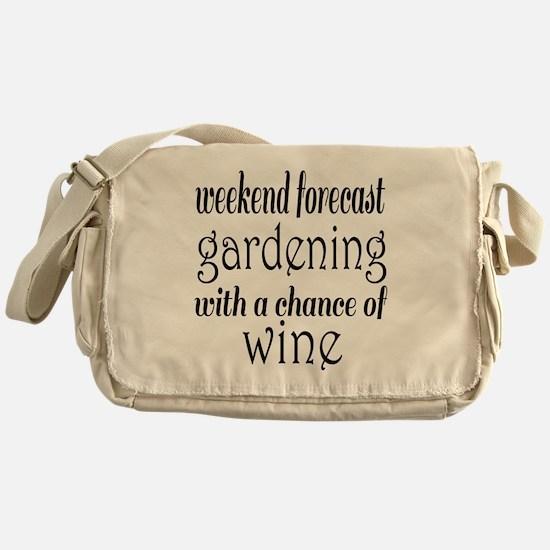 Gardening and Wine Messenger Bag
