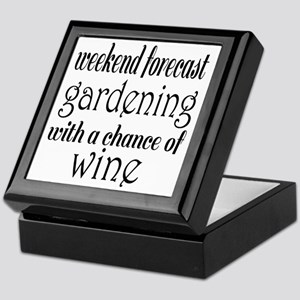 Gardening and Wine Keepsake Box