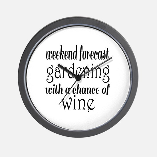 Gardening and Wine Wall Clock