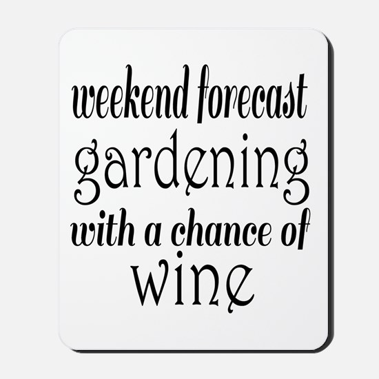 Gardening and Wine Mousepad