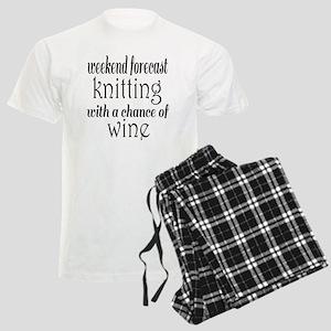 Knitting and Wine Men's Light Pajamas