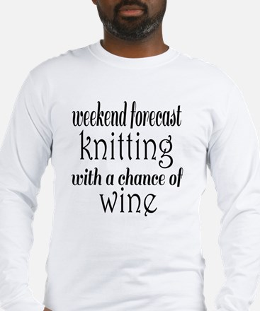 Knitting and Wine Long Sleeve T-Shirt