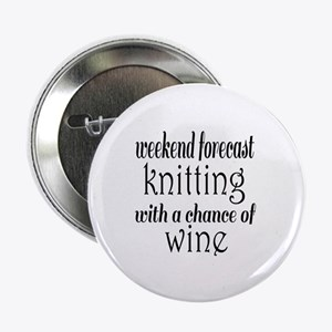 """Knitting and Wine 2.25"""" Button"""