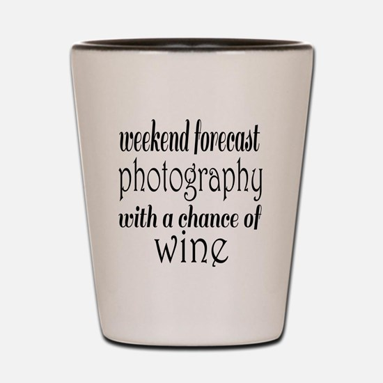 Photography and Wine Shot Glass