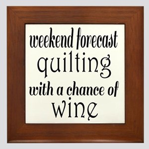 Quilting and Wine Framed Tile