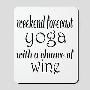 Yoga and Wine Mousepad
