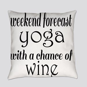 Yoga and Wine Everyday Pillow