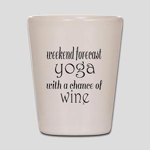Yoga and Wine Shot Glass