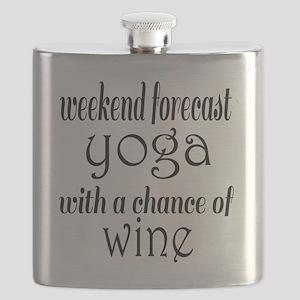 Yoga and Wine Flask