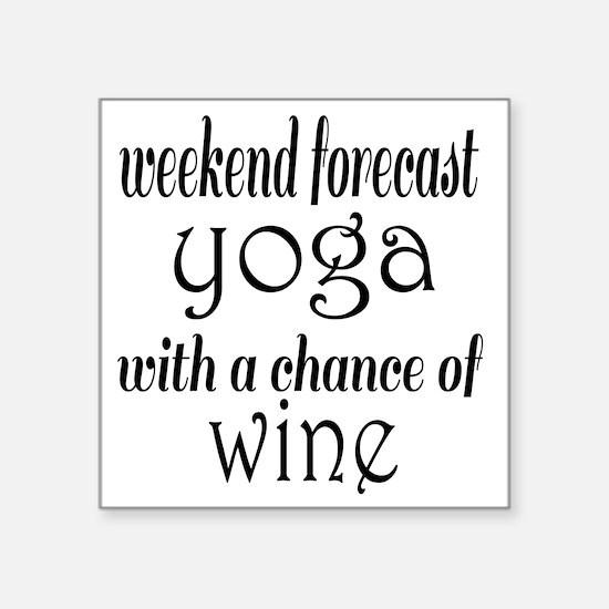 """Yoga and Wine Square Sticker 3"""" x 3"""""""