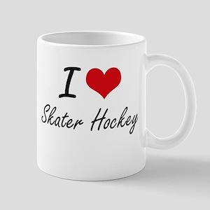 I Love Skater Hockey artistic Design Mugs