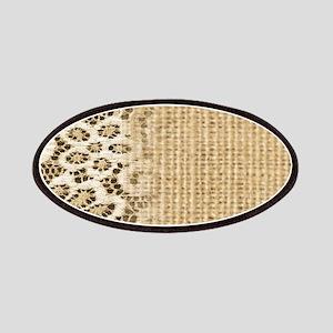 primitive western country burlap lace Patch