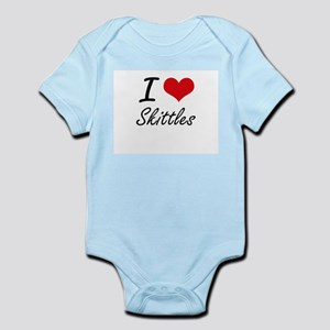 I Love Skittles artistic Design Body Suit