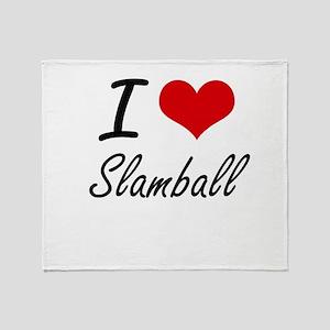 I Love Slamball artistic Design Throw Blanket