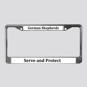 German Shepherds Serve/protect License Plate Frame
