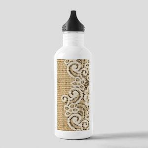 vintage rustic burlap Stainless Water Bottle 1.0L