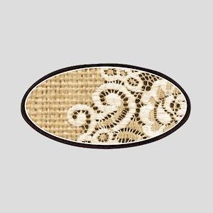 vintage rustic burlap and lace Patch
