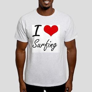 I Love Surfing artistic Design T-Shirt