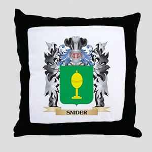 Snider Coat of Arms - Family Crest Throw Pillow