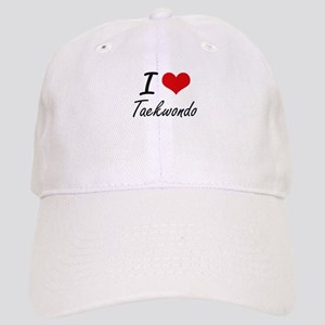 I Love Taekwondo artistic Design Cap