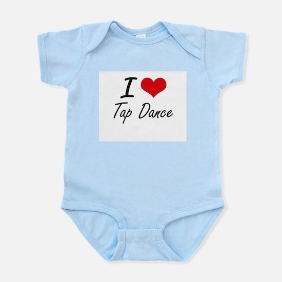 I Love Tap Dance artistic Design Body Suit