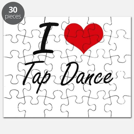 I Love Tap Dance artistic Design Puzzle