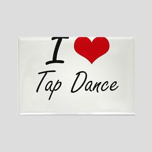 I Love Tap Dance artistic Design Magnets