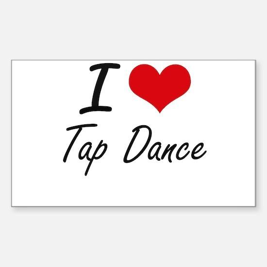 I Love Tap Dance artistic Design Decal