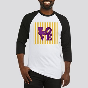 Louisiana Love Purple and Gold Baseball Jersey