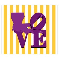 Louisiana Love Purple and Gold Poster