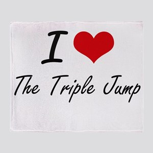 I Love The Triple Jump artistic Desi Throw Blanket