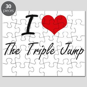 I Love The Triple Jump artistic Design Puzzle